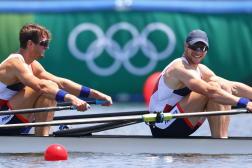 Hugo Boucheron et Matthieu Androdias espèrent glaner une médaille olympique mercredi 28 juillet à Tokyo . (REUTERS/Leah Millis)