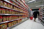 Un rayon de pâtes de la marque Panzani dans un supermarché à Nince, le 16 janvier 2017.
