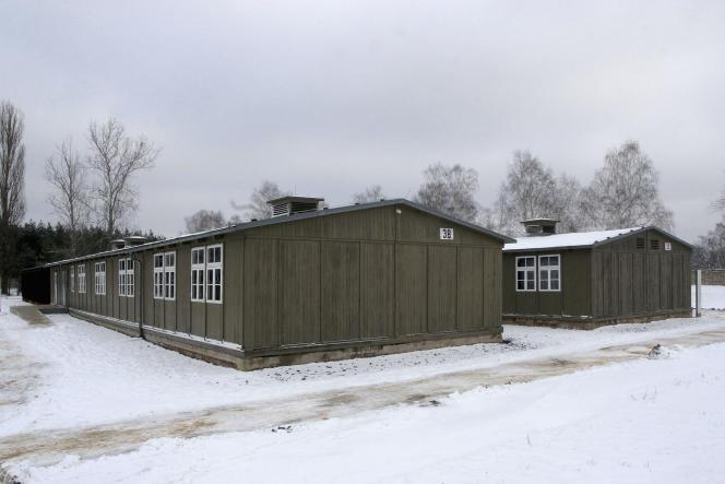 Baraquements d'origine de Sachsenhausen, dans lequel Aleksander Kulisiewicz a été détenu, le 25 janvier 2005, en Allemagne.