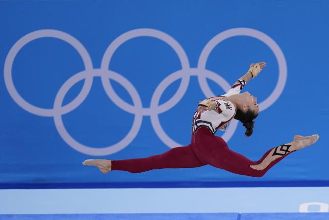 L'Allemande Pauline Schaefer-Betz, durant les qualifications de gymnastique artistique, à Tokyo, le 25 juillet 2021.