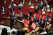 Lors du vote du projet de loi de gestion de la crise sanitaire, à l'Assemblée nationale, à Paris,le 23 juillet 2021.