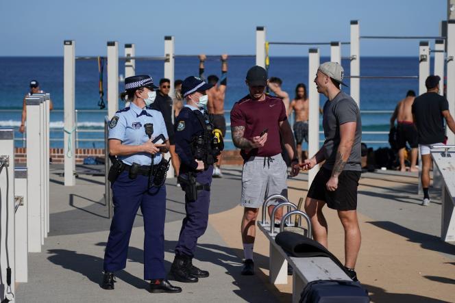 During a police raid on Sydney's Pondy Beach.