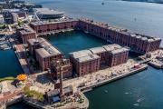 Le Royal Albert Dock de Liverpool, le 31mai 2021. Ces anciens entrepôts abritent notamment une antenne de la Tate Gallery de Londres.