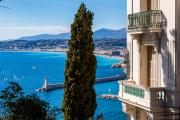 Vue de la promenade des Anglais depuis le mont Boron, à Nice.