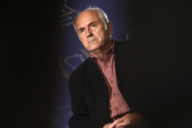 Valentin Inzko, tuteur international de la Bosnie-Herzégovine, à Sarajevo, le 26 juillet 2021.