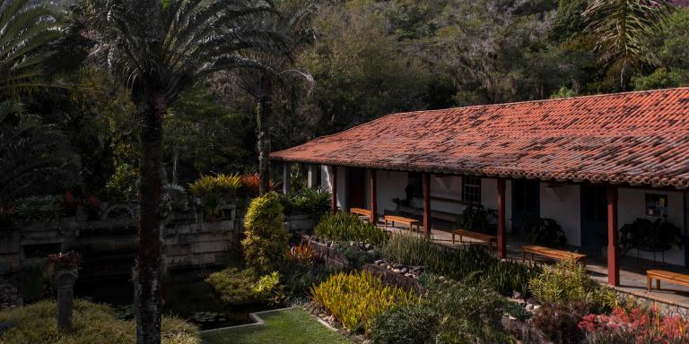 (FILES) In this file photo taken on September 14, 2017 View of Brazilian landscape architect Roberto Burle Marx's (1909-1994) house at the Burle Marx Site in Rio de Janeiro, Brazil. The Roberto Burle Marx Site was placed in the 2021 list of world heritage sites by the United Nations Educational, Scientific and Cultural Organization (UNESCO) Heritage Committee during its 44th session, taking place in Fuzhou, China from July 16 to 31, 2021. (Photo by MAURO PIMENTEL / AFP)