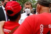 Emmanuel Macron, en Polynésie, le 27 juillet 2001.