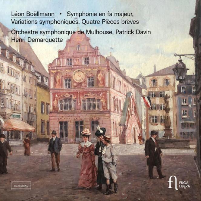 Pochette de l'album consacré aux œuvres pour orchestre de Léon Boëllmann.