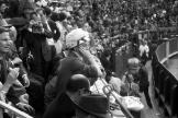 L'actrice américaine Ava Gardner assiste à une corrida, aux arènes de Las Ventas, à Madrid, en mai 1963.