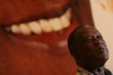 Le compositeur et chanteur de merengue dominicain Johnny Ventura, lors d'une conférence de presse à Saint-Domingue, le 7 juin 2006.