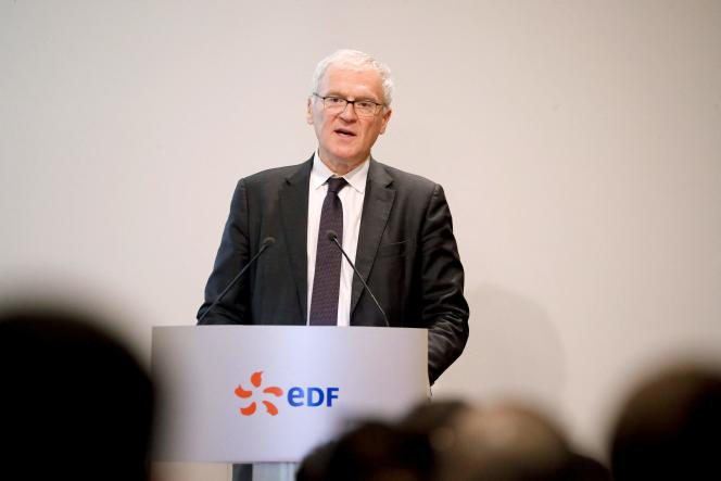 Jean-Bernard Lévy, PDG d'EDF, à Paris, le 14 février 2020.