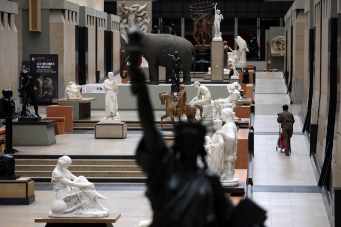 La galerie principale du musée d'Orsay, le 17 mai 2021, avant sa réouverture.