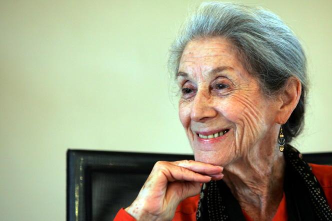 Nadine Gordimer, Prix Nobel de littérature 1991, à Johannesburg le 8 février 2005.