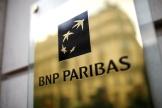 Le logo de BNP Paribas, dans une agence à Paris, en France, le 4 février 2020.