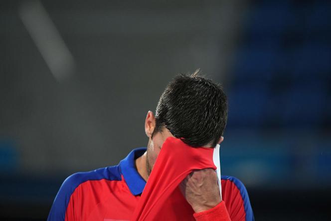 Novak Djokovic après sa défaite contre Alexander Zverev, le 30 juillet 2021.
