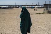 Dans le camp de Roj, au nord-est de la Syrie,où sont détenues des familles des combattants de l'organisation Etat islamique, le 28 mars 2012.