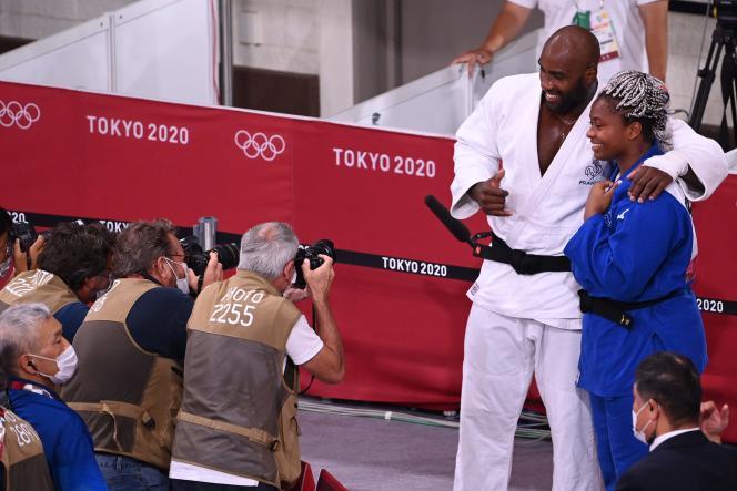 Riner et Dicko, les médaillés du jour en judo.