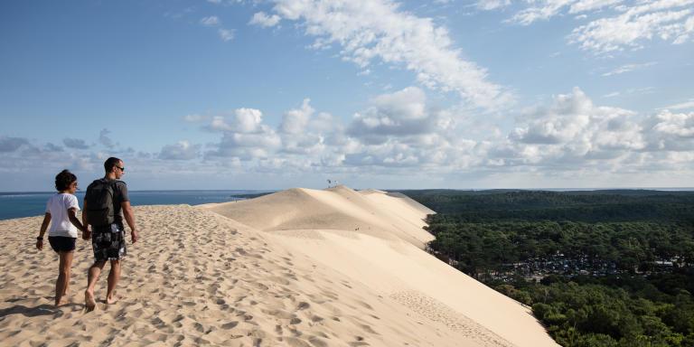 La Dune du Pyla, face au camping des Flots bleus.