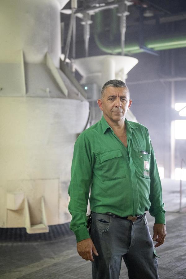 Christophe Berger, chef de l'équipe de nuit de maintenance à la Fonderie du Poitou Fonte,à Ingrandes-sur-Vienne (Vienne), le 15 juillet 2021.