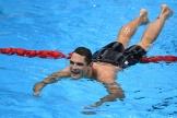 Florent Manaudou après sa deuxième place au 50m nage libre, à Tokyo, le 1eraoût.