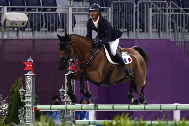 Karim Laghouag et son cheval Triton Fontaine.