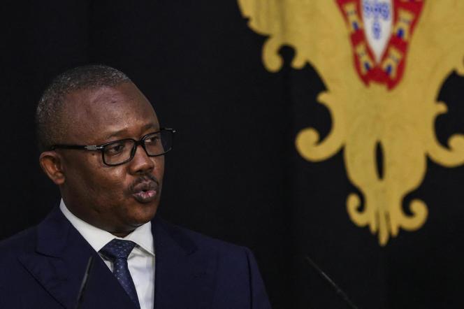 Le président bissau-guinéen, Umaro Sissoco Embalo, lors d'une conférence de presse à Lisbonne, le 8octobre 2020.