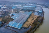 Les anciennes friches industrielles de Revin (Ardennes), le 3 janvier 2020, qui devaient accueillir une usine des cycles Mercier.
