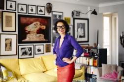 La photographe Sophie Bramly, le 14 juillet 2021, chez elle, à Paris.
