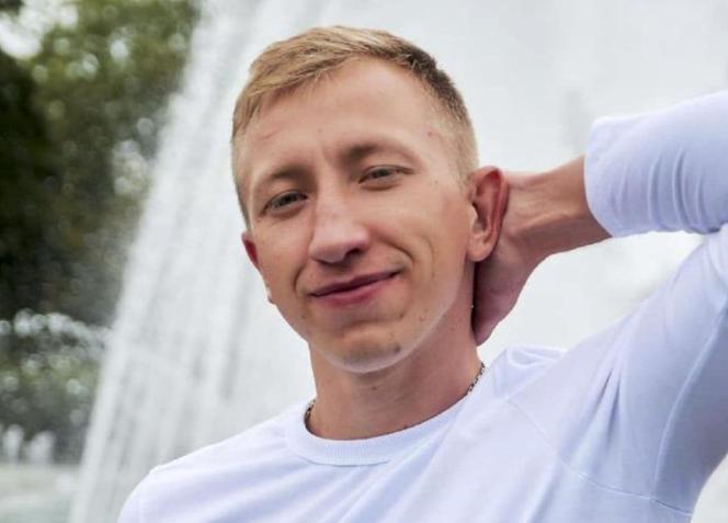 Photo non datée deVitali Chychov, fournie par l'organisation de défense des droits humains Viasna. M. Chychov, 26 ans, responsable d'une ONG biélorusse aidant celles et ceux qui ont fui le régime d'Alexandre Loukachenko, a été retrouvé mort à Kiev, le 3 août.