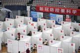 Dans un centre de vaccination à Nankin, le 2 août 2021.