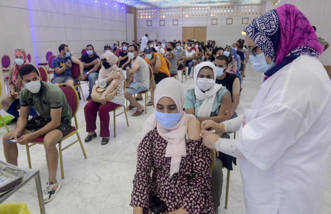 Un centre de vaccination à Tunis, le 20juillet 2021.