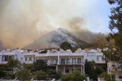 Un incendie ravage la région d'Oren, près de Bodrum, en Turquie, le 3août 2021.