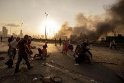 Après l'explosion dans le port de Beyrouth, le 4 août 2020.