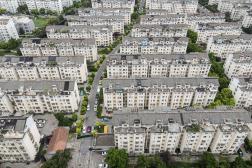 Dans la ville confinée de Yangzhou, le 3août2021.