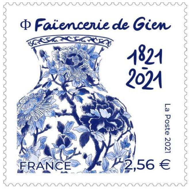 « Faïencerie de Gien. 1821-2021»,dessiné par Broll & Prascida, gravé par Elsa Catelin.