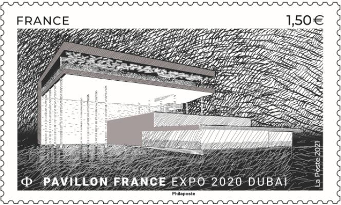 « Pavillon de France. Expo 2020 Dubaï». Création Atelier du Prado et Celnikier & Grabli Architectes, mise en page Youz, © Cofrex.