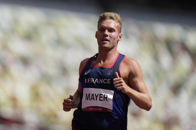 Kevin Mayer lors des épreuves du décathlon, mercredi 4 août 2021 à Tokyo.
