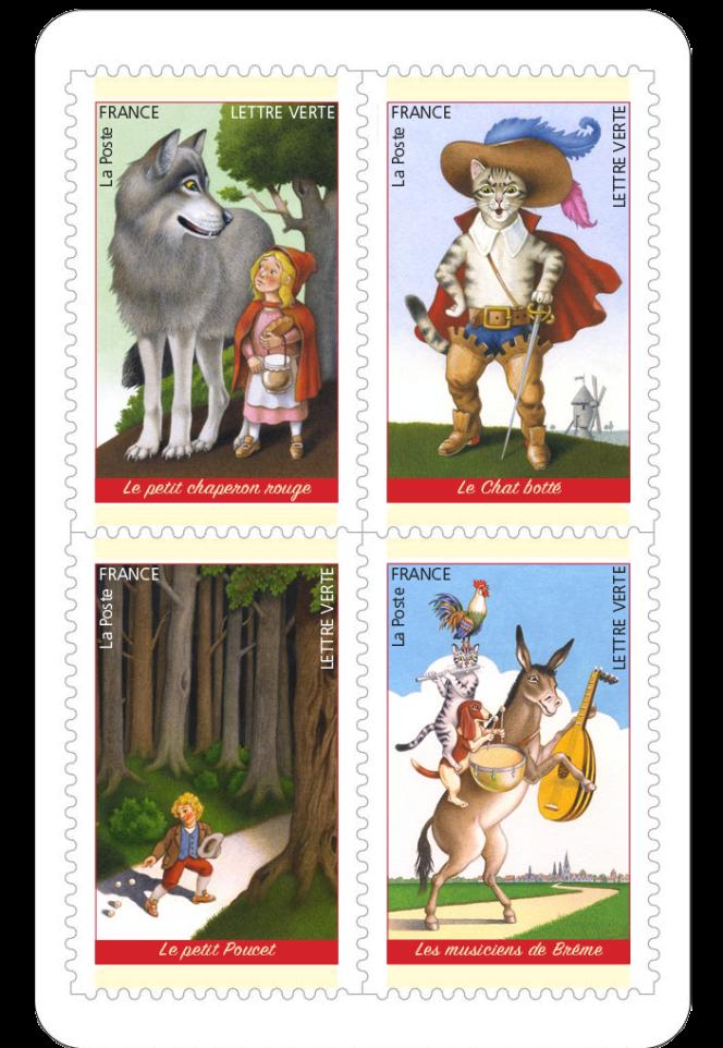 Timbres issus du carnet « Contes merveilleux ». Création d'Henri Galeron.