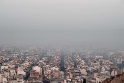 Athènes sous la fumée, le 4 août.