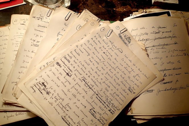 Parmi les documents authentifiés, on trouve un millier de feuillets manuscrits de «Mort à crédit».
