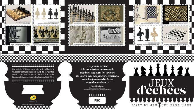 « Jeux d'échecs. L'art du jeu. Jeu dans l'art », mise en page d'Etienne Théry. Carnet en vente générale depuis le 21 juin.