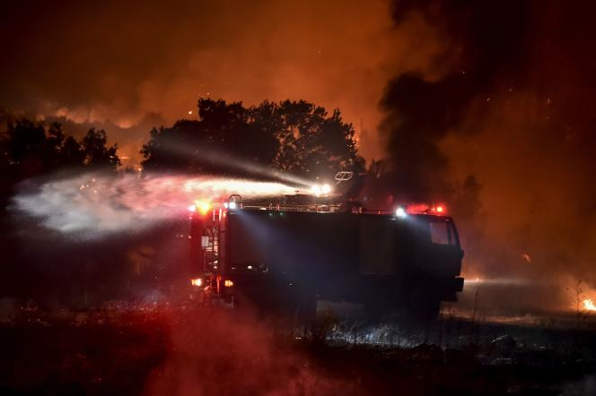 On August 5, firefighters put out a fire near Affinity, north of the Greek capital.