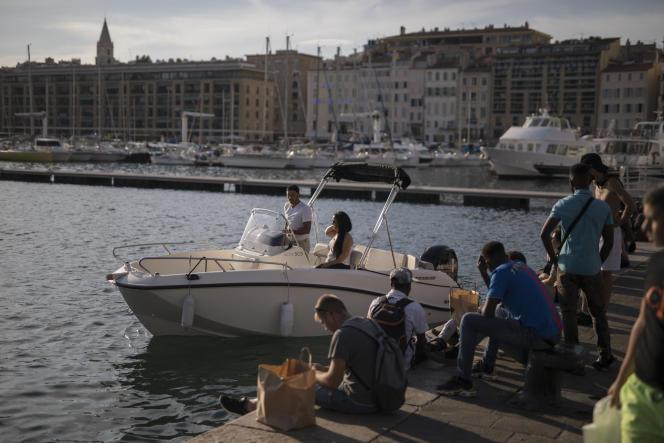 Dans le Vieux-Port de Marseille, le 14 juillet 2020.