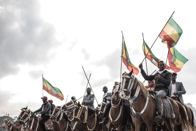Members of the National Guard, August 8 in Addis Ababa.