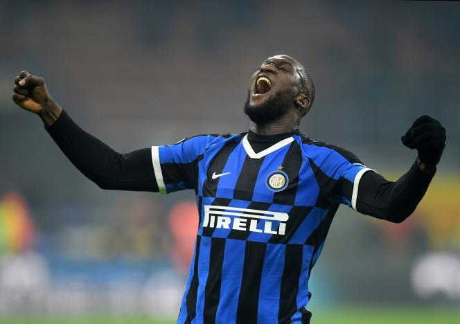 Romelu Lukaku porte les couleurs de l'Inter Milan, le 9 février 2020.