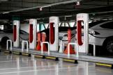 Superchargeur Tesla, à Hanam, Corée du Sud, en juillet 2020.