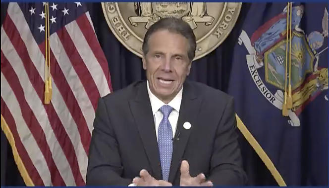 New York Governor Andrew Cuomo at a news conference on August 10.