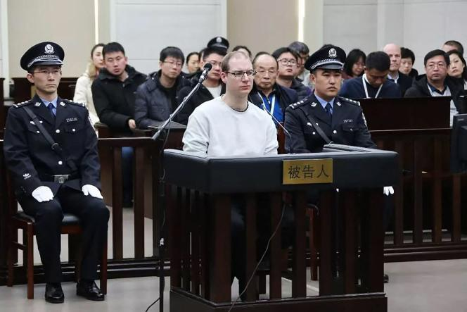 Robert Lloyd Schellenberg durant son procès à Dalian, en Chine,le 14janvier2019.