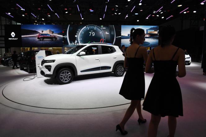 Le modèle électrique K-ZE de Renault, présenté au salon de l'automobile de Shanghai, le 17 avril 2019.