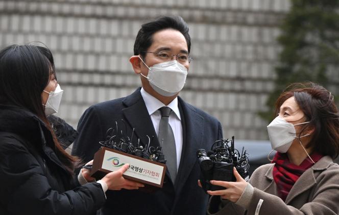 Lee Jae-yong, à son arrivée au tribunal de Séoul, le 18 janvier 2021.